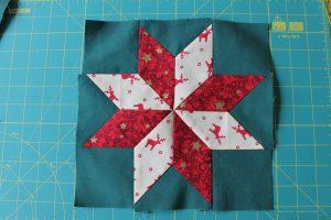 Patchwork: Stern mit 8 Zacken